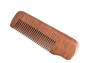 Оптовая Полезное Fine Tooth Wood Борода Comb карманного размера Антистатические Массаж Уход за волосами Мужская подарков Новый
