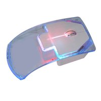 2.4GHz Transparent Wireless Mouse Laptop Desktop Gamer Colorful LED Energy Saving Glow Gaming Mice