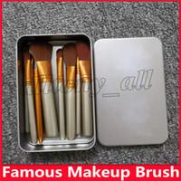 Berühmt N3 Bürste 12pcs Make-up kosmetische Gesichts-Bürsten-Ausrüstung Metall-Box-Bürsten-Satz-Gesichts-Puder-Bürste