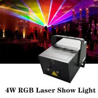 Mini DJ Sahne Ekipmanları 40 K SD Kart RGB 4 W 4000 MW ILDA Flash Animasyon Lazer Işık Işın Gösterisi