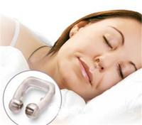 Anti Snore clipe nasal ronco Cessação Silicone dormir Magnetic Dispositivo Aid Apnea Guarda Noite com caso