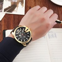 Mens Watches Top Brand Luxury Leather Strap Waterproof Sport...
