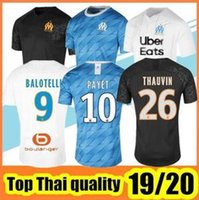 Maillots de football Olympique de Marseille 2019 2020 Maillot BALOTELLI 2020 Maillot De Foot PAYET L.GUSTAVO THAUVIN 19 20 Maillots de foot OM