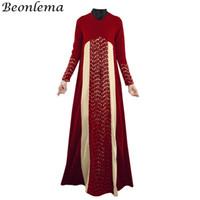 Etnik Giyim Beonlema Müslüman Elbise Kadın Fas Kaftan Türk Abayas Uzun Vestido İslam Parti Elbiseler Dubai Maxi Moda Abaya