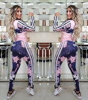 Plus Size clássico Two Piece Set Mulheres Outono de manga comprida Top + BODYCON Calças Fatos Fatos Casual Matching terno Jogging Sports