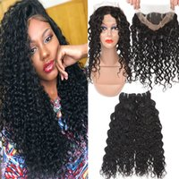 9A Brazilian Water Wave Virgin Hair 3 Bundles With 360 Full ...