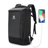 Tasarımcı-BEAU-Ozuko İş Sırt Çantası Su geçirmez Bilgisayar Seyahat Sırt Çantası Giyilebilir Su geçirmez
