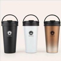 Kaffee-Reise-Becher mit Henkel Kaffeetasse Pilsner-Bier-Glas Eistee oder Wasser Cup Leakproof Doppelschalig vakuumisolierte Edelstahl