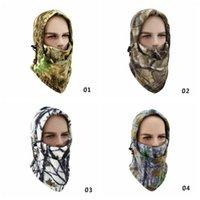 Kış Bisiklet Binme Kamuflajlı Yüz Maskeleri Taktik Hood Eşarp Doğa Sporları Bisiklet Bisiklet Balaclava Polar Şapka Snowboard Beanie RRA2581 Maske