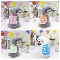 2019 Pet Dog Summer Vest Smile Colorful Clothes Small Puppy ...
