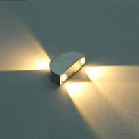 10 stks Semicircle LED Wandlamp 3W 9W Oppervlakte Gemonteerd Wandlamp Indoor slaapkamer Corridor LED-verlichting armaturen AC85-265V wit rood blauw