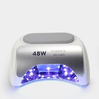 Misscheering 48W اللاسلكي LED / الأشعة فوق البنفسجية مسمار مصباح جل طلاء الأظافر مجفف ضوء لاسلكية قابلة للشحن الأشعة فوق البنفسجية طلاء الأظافر مصباح