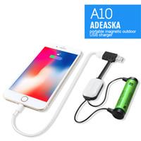 Yeni ADEASKA A10 Li-ion Piller için 18650 Pil Şarj İşlevli Manyetik USB Şarj Mini Şarj / Boşaltma Güç Bankası DHL