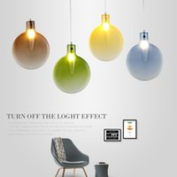 4 colors Creative Pendant lights Natural color Modern hangin...