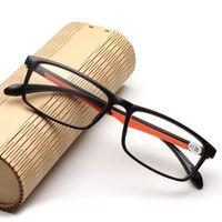 10PCS / الكثير TR90 خفيفة النساء الرجال نظارات القراءة الرجعية واضح عدسة النظارات طويل النظر أنثى ذكر قارئ نظارات + 1.0- +4.0