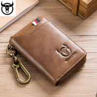 Pelle Affari universale Door Lock Bag morbido degli uomini di cuoio di caso chiave dell'automobile del gatto capitano Trendy esplosione Multi-Card Conveniente Coin Purse