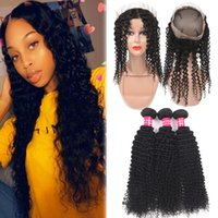 9A Afro Kinky Curly Virgin Hair 3 Bundles With 360 Full Lace...
