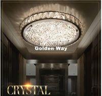 Nyligen D40cm H6CM 4 Designs Modern Crystal Room Deco Lights för vardagsrum Luminarias para Sala Plafon LED Crystal AC Taklampa Fixtures