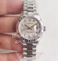 28mm WF Fábrica Ladys Relógios Automáticos Relógio Feminino ETA 2671 Movimento 279175 Steel Senhoras Data Presidente 279174 Sapphire relógios de pulso
