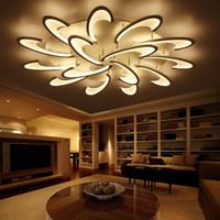 거실 침실 식사 서재 백색/검정 AC85-265V 샹들리에 정착물을 위한 현대 led 천장 샹들리에 빛