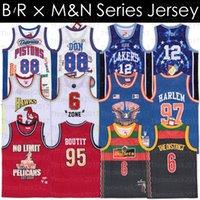 BR MN Remixes Jersey Wale Bullet Bölge Diplomatlar Harlem Khaled Büyük Sean Don Bölgesi Mutombo Basketbol Formaları