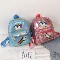 Nueva niños mochilas escolares de Kinder de bebé Bolsas niños lindos de las lentejuelas Moda unicornio adorno del Cruz-cuerpo Bolsas Snacks Niños Bolsas