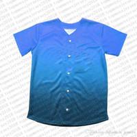 Top Custom Baseball Jerseys der Männer Stickerei Logos Jersey Freies Verschiffen billig Großhandel Jede beliebige Anzahl Größe nennen M-XXL 35