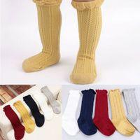 Bebek Çocuk Erkek Kız Bebek Çorap Yumuşak Pamuk Diz Yüksek Çorap Tayt Bacak