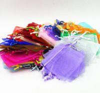 7x9cm 9x12 cm 10x15 cm13x18CM Organza joyería Embalaje Bolsas boda decoración del partido Disponibles bolsas de regalo 24 colores GB1506