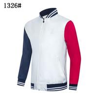 Nuova giacca uomo sportswear nero bianco autunno inverno jogger sportivo giacche da uomo