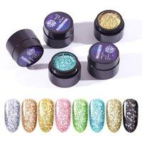 20 الألوان الماس الترتر بريق جل طلاء الأظافر المهنية 3D الماس UV LED نقع معطلة جل ورنيش احباط لاصق الأظافر