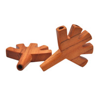 Porte-articulation en bois en forme de paume avec sac de transport double Twin Thridel Thridy Tiple Tuyau Tuyau Tuyau Rolling Papiers 3 5 Cônes