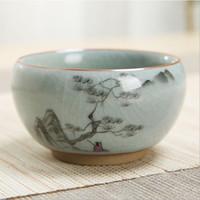 elegante le taza de té horno verter proceso cerámico de una taza, paisaje pintura poética taza de té de la personalidad Master Cup esmalte de color