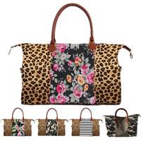 9 style Fashion Leopard Print camouflage handbag Duffel Bag Leopard travel bag Girl large capacity travel bag Wholesale JJ281