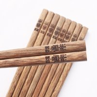favores y regalos de boda barato caliente creativo personalizado, madera wengué personalizada grabado de logotipo personalizado gratuito palillos