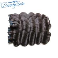 Belleysister Brasilian Virgin Remy Human Hair Bundles Teje 5bundles Lot Cutícula Alineada Las extensiones de cabello virgen tejen color natural