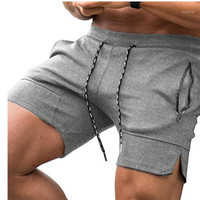 Mens Solid Color Beach Shorts Summer Fashion Sport Short Pan...