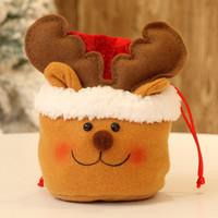 Presente cordão do Natal Bolsa Non Woven Bags Urso do boneco de neve Papai Noel Festival Decoração Anti Desgaste 3 9mga UU