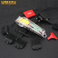 WMARK NG-108 Yeni Sınırlı Sürüm Şeffaf Stil Profesyonel Şarj Edilebilir Clipper Saç Düzeltici 6900 RPM 2200 Pil