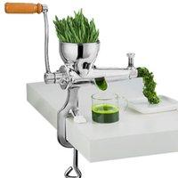 Aço inoxidável mão wheatgrass espremedor manual do Auger lenta espremedor de suco de laranja fruta grama de trigo vegetal imprensa extractor