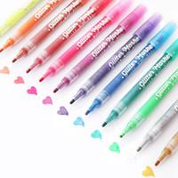 Yazı Çizim Albüm Art Boyama için Glitter renk işaretleyici kalem 1mm Su bazlı, UV dirençli Pigment mürekkep kalem