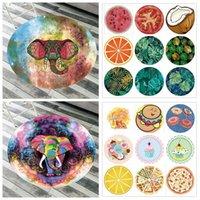 68 styles de la toilette de la mousseline de mousseline de mousseline de mousseline ronde Mandala Baignage serviettes de bain de yoga Couvertures d'animaux d'éléphant Tapis de table Tapis d'extérieur CCA11661 50PCS