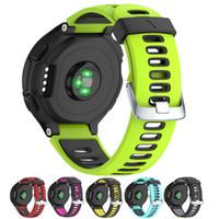 Смотреть Band Для Garmin Forerunner 230 220 235 620 630 735XT Мягкие силиконовые Bands Замена часы для женщин Человек