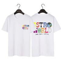 21SS designer TS Astroroworld T-shirt Lettre Tee-shirt T-shirt Summer Hommes et T-shirts en coton pour femmes Hip hop High Street Tops