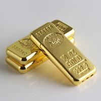 Cigarro Acessórios de Moda Bar New Gold Forma Butano Gás Isqueiros rebolo de metal leve