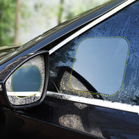 Автомобильное зеркало заднего вида дождя пленка реверса зеркало заднего вида со стороны окна наклейки водонепроницаемый анти-туман фильм Box PackageXD23454