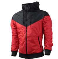 Fall dünne windrunner Männer Frauen Sportbekleidung Qualität wasserdichte fabricmens Designer Jacken Fashion Zipper Hoodie plus Größe 3XL F0002