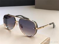 Novos óculos de sol Top Popular edição limitada oito homens Design K ouro retro pilotos de qualidade superior lente corte da moldura de cristal
