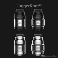 Mais novo Clone QP Designs JuggerKnot Mini RTA Substituível Tanque Atomizador Vaporizador Único Bobina Ajustável Top Fluxo De Ar 810 Drip Tip Bolo Quente