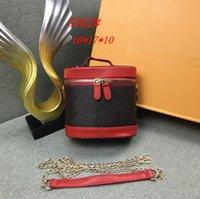 Retro donne cosmetici Sacchetto per le estetiche trucco Bag Box di qualità Portable compone i sacchetti Estetista nero Necessair